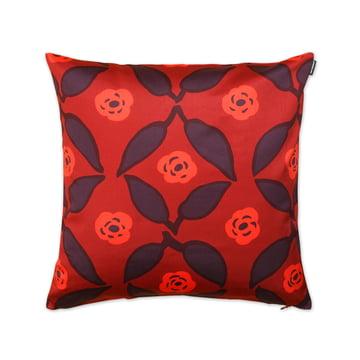 Poppy pudebetræk 50 x 50 cm fra Marimekko i rød / mørkerød / brun