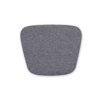 Hey Sign – sædehynde i filt til Hal Wood stol, 5 mm med skridsikker belægning, antracitgrå