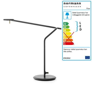 Flow bordlampe fra Normann Copenhagen i sort