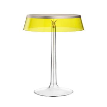 Bon Jour bordlampen fra Flos i mat krom/krone gul