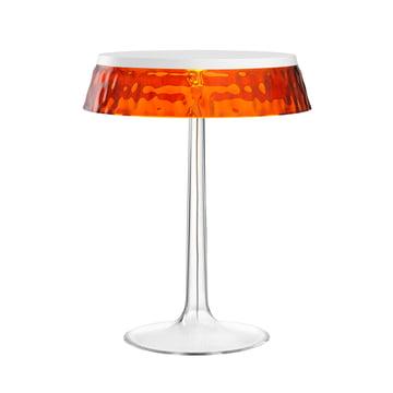 Bon jour bordlampen fra Flos i hvid/krone ravfarvet