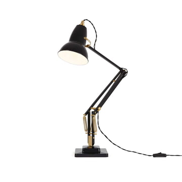 Original 1227 bordlampe i messing fra Anglepoise i deep slate