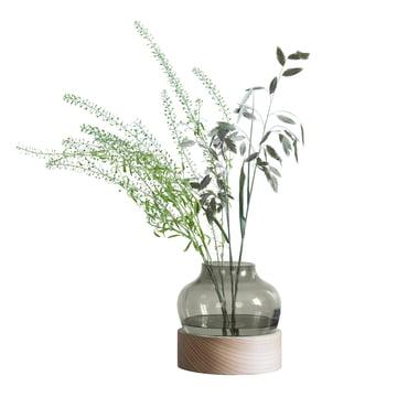 Lav vase fra Fritz Hansen med grønt