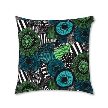Marimekko – Pieni Siirtolapuutarha pudebetræk, 50 x 50 cm, grøn/blå/sort