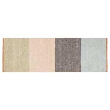 Design House Stockholm – Fields løber, 80 x 250 cm, beige/pink/brun/blå