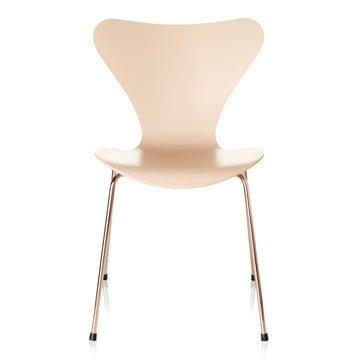 Serie 7 stol fra Fritz Hansen i Nude / Rosé guld