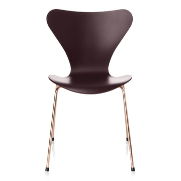 Serie 7 stol fra Fritz Hansen i Merlot / Rosé guld