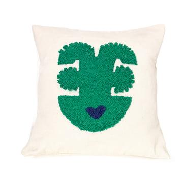 Nido pude med grønt Qeztal motiv
