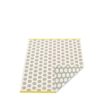 Pappelina - Noa Vendbar tæppe, 70 x 50 cm, varm grå / vanilje / sennep kant