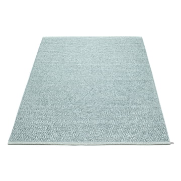 Pappelina - Svea tæppe, 140 x 220 cm, azurblå metallisk / lys turkis