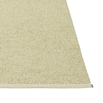 Pappelina - Svea tæppe, 140 x 220 cm, olivenmetallisk / søgræs
