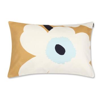 Unikko pudebetræk, 40 x 60 cm, fra Marimekko i hvid/beige/blå