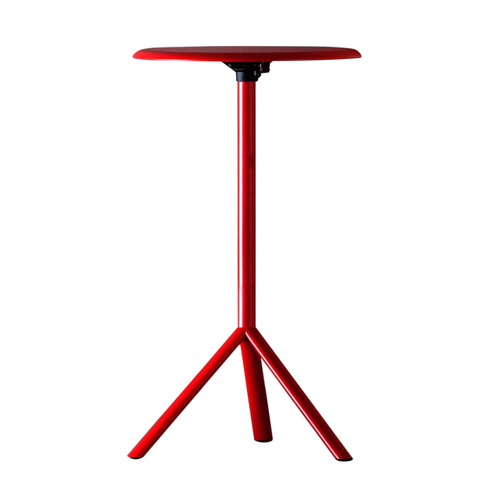 Plank – Miura bord, højde 109cm, trafikrød (RAL 3020)
