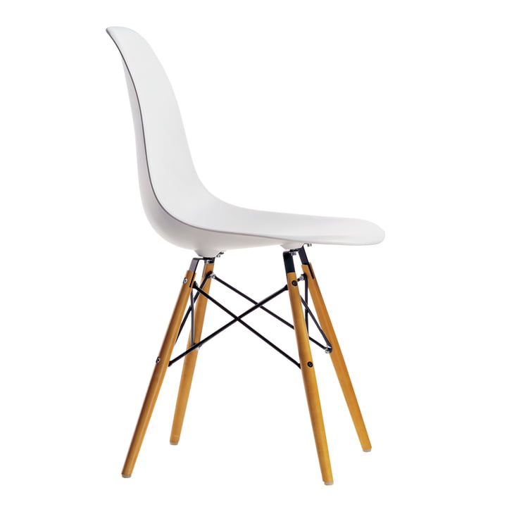 Vitra – Eames Plastic Side Chair DSW, gullig ahorn/white