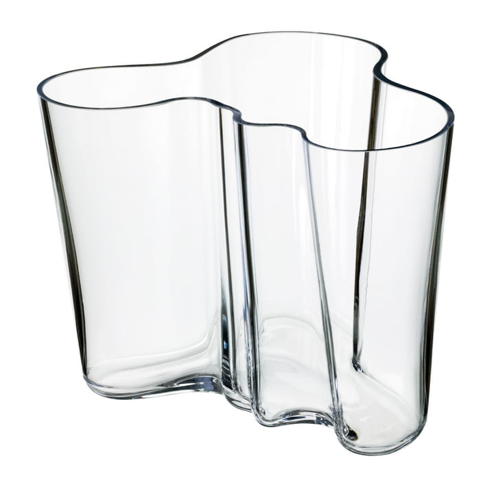 Aalto Savoy vase, klar, 160 mm