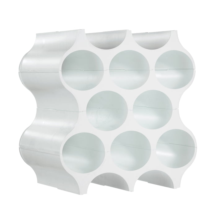 Set Up vinreol – massiv hvid
