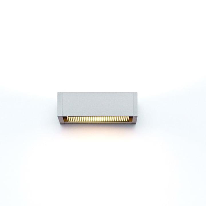 serien.lighting – SML væglampe, sølvanodiseret, lille
