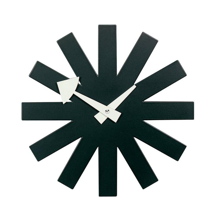 Asterisk Clock fra Vitra i sort