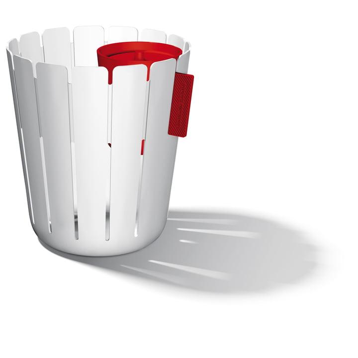 SL17 Basketbin System – hvid/rød
