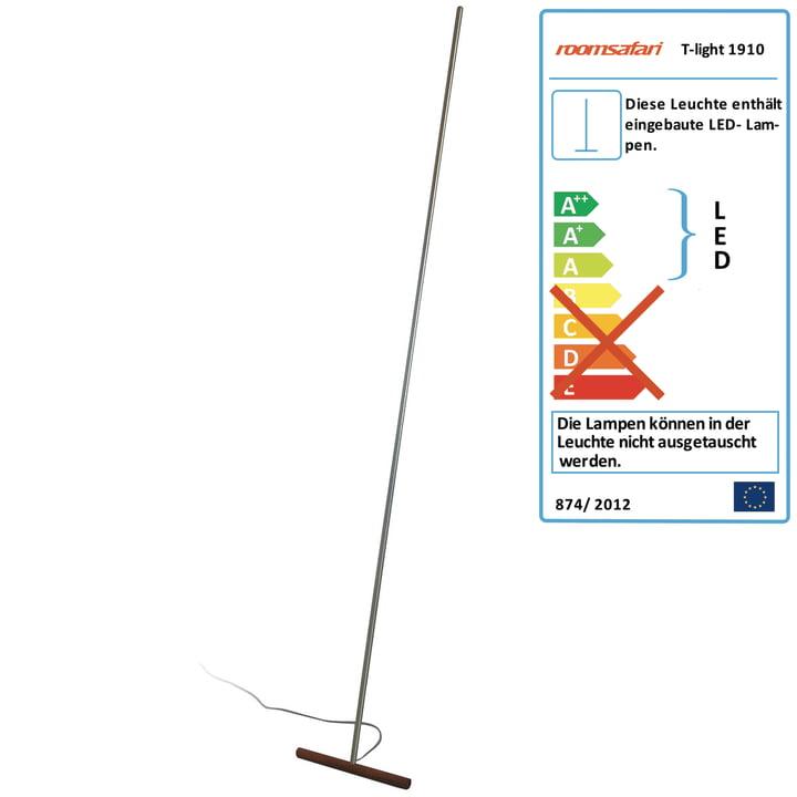Roomsafari – T-Light Lean lampe, fod i valnød