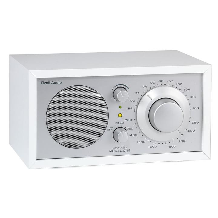 Model One mono radio – hvid/sølv