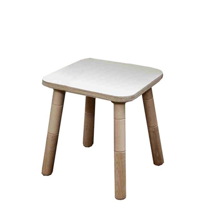 Growing Table – skammel, HPL hvid