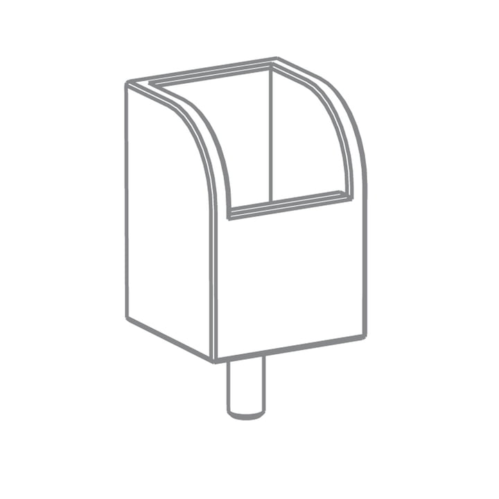 Growing Table – penneholder, HPL hvid