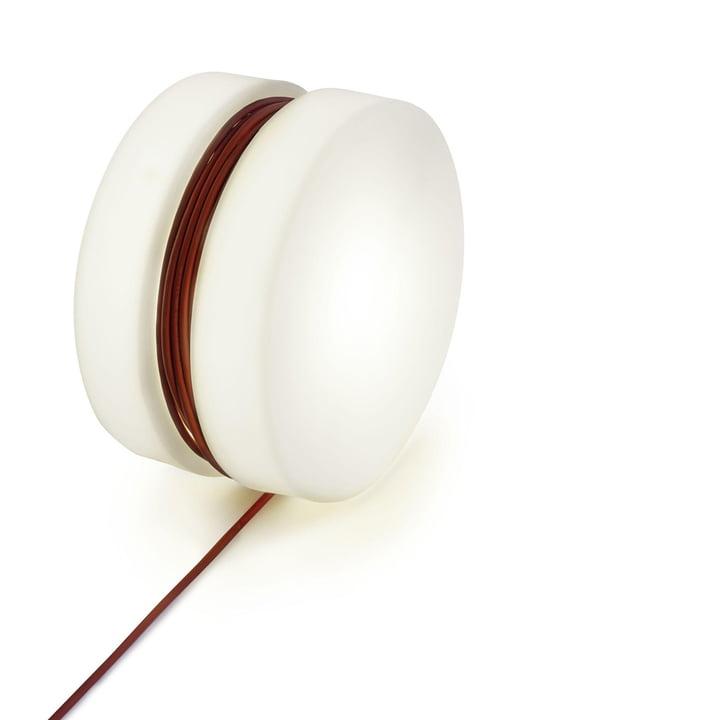 Yoyo gulvlampe Ø 47,5 cm fra Depot4Design i hvid / rød