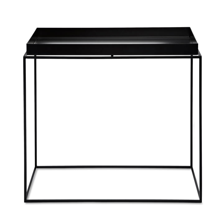 Hay – rektangulært bakkebord, 60 x 40 cm, sort