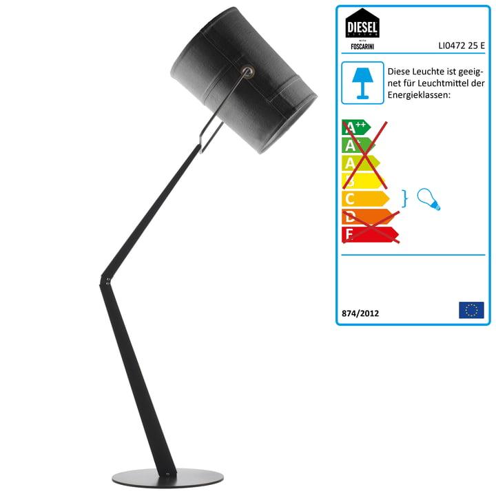 Diesel Living – Fork gulvlampe, grå/grå