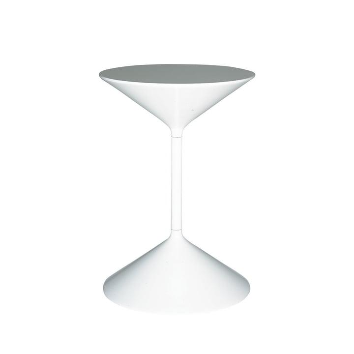 Tempo Sidebord H 36 cm af Zanotta i hvid