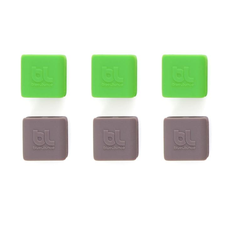 Bluelounge – CableClip, lille: grøn og grå