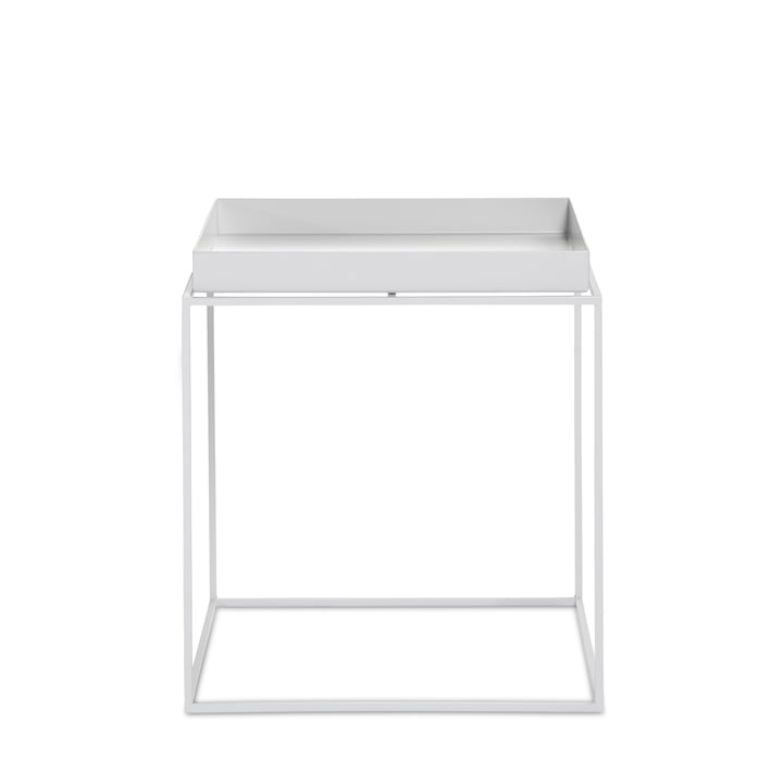 Hay – kvadratisk bakkebord, 40 x 40 cm, hvid