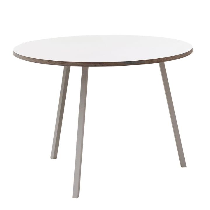 Hay – Loop Stand bord, rundt, hvidt
