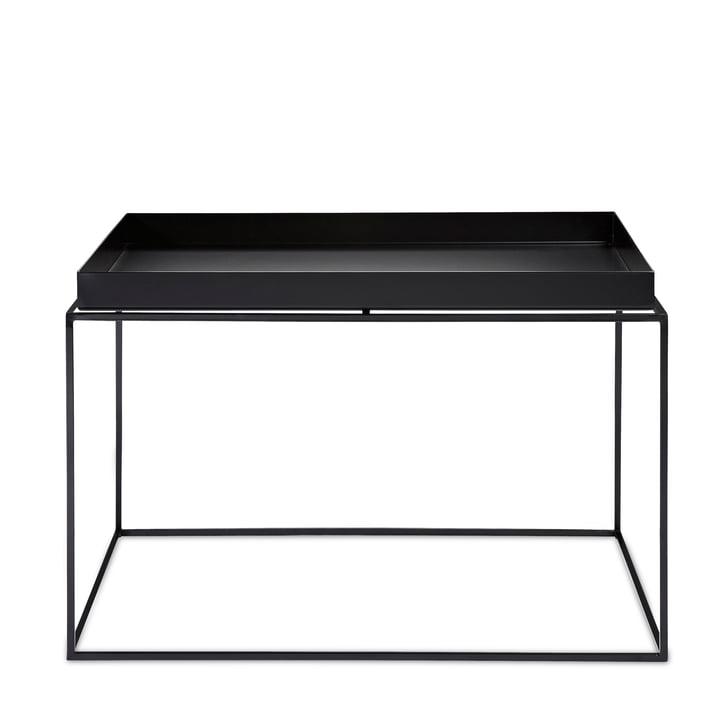 Hay – kvadratisk bakkebord, 60 x 60 cm, sort