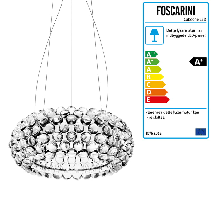Foscarini – Caboche pendel transparent, medium