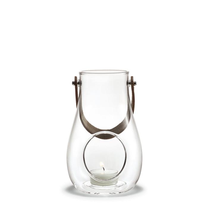 Design med lys lanterne H 16 cm af Holmegaard i klart