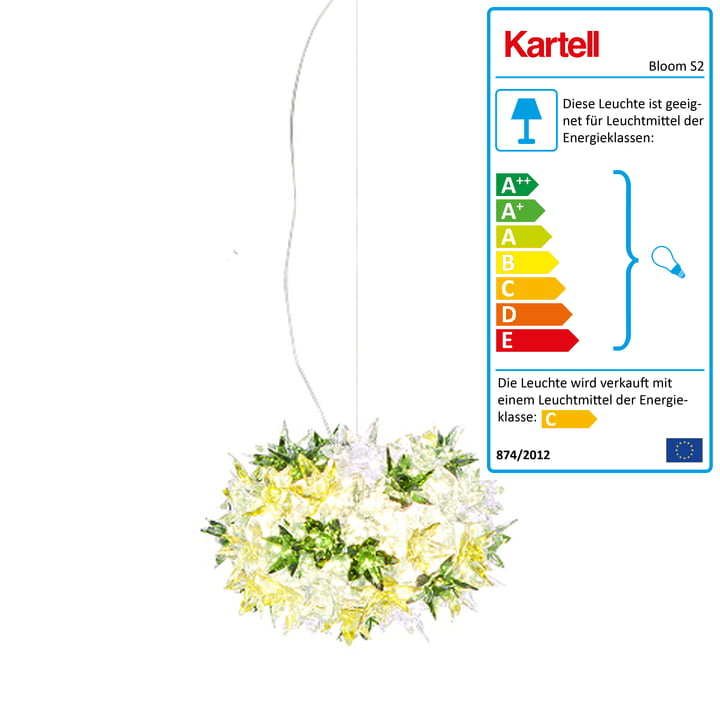 Kartell – Bloom S2 pendel, mintgrøn
