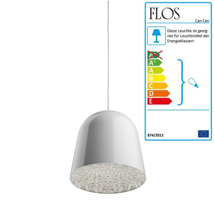 Flos – Can Can pendel, hvid/transparent