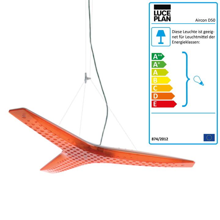 Luceplan – Aircon pendel D50, orange