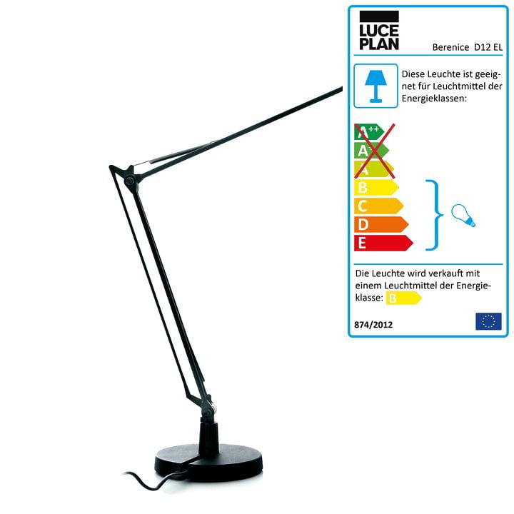 Luceplan – Berenice skrivebordslampe, sort
