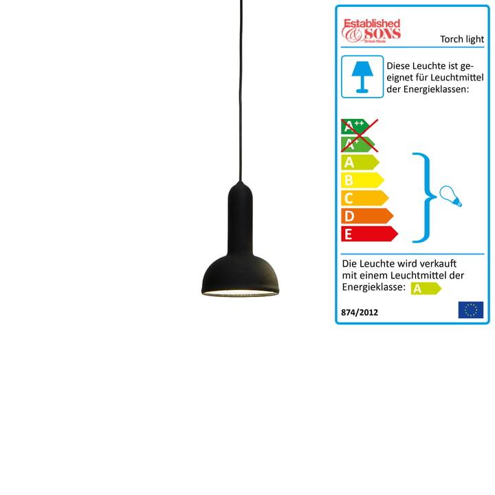 Established & Sons – Torch Light pendel rund sort