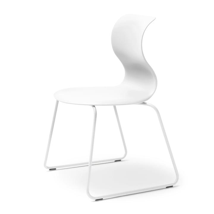 Flötotto – Pro 6 stol, slædestel snehvid, sæde snehvid