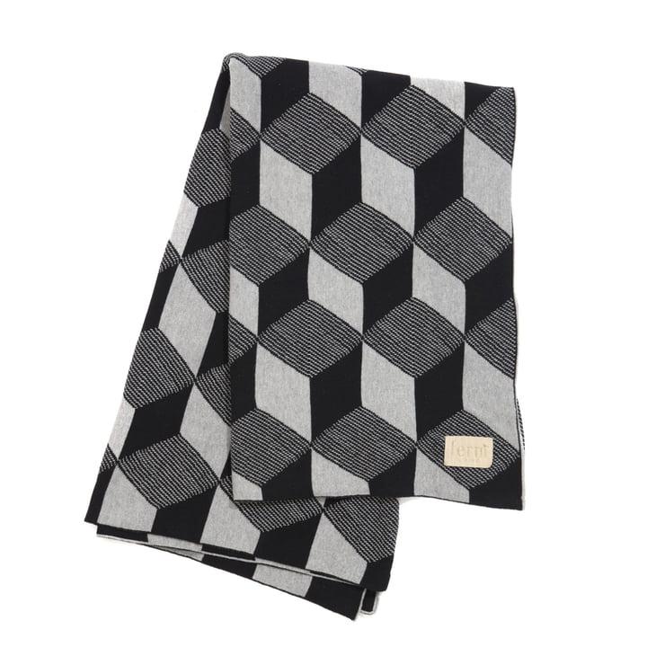 Det strikkede tæppe Squares fra ferm LIVING i grå