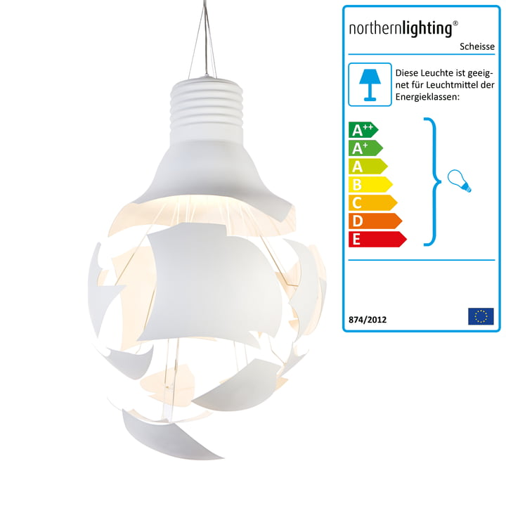 Northern Lighting – Scheisse pendel, hvid