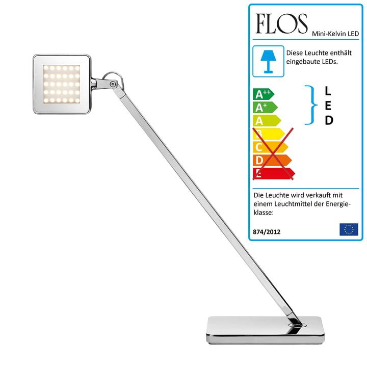 Flos – Minikelvin LED-bordlampe, sølv