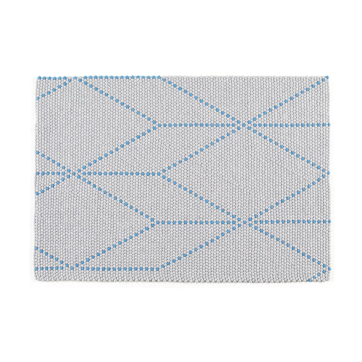 Hay – S&B Dot tæppe i big blue, 120 x 170 cm.