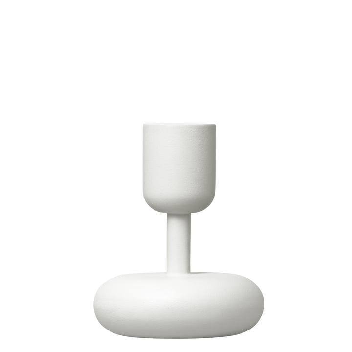 Iittala - Nappula lysestage 107 mm, hvid