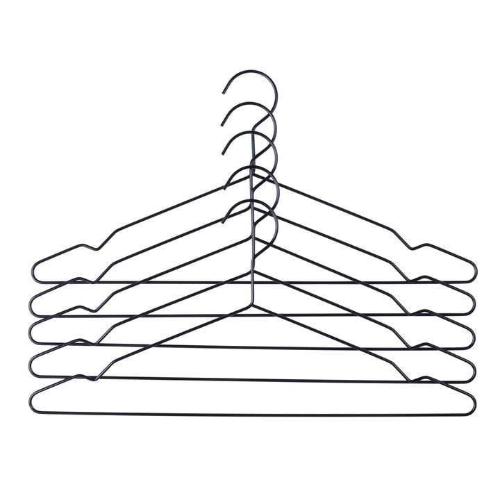 Hay – Hang bøjler, sæt med 5 stk., sort