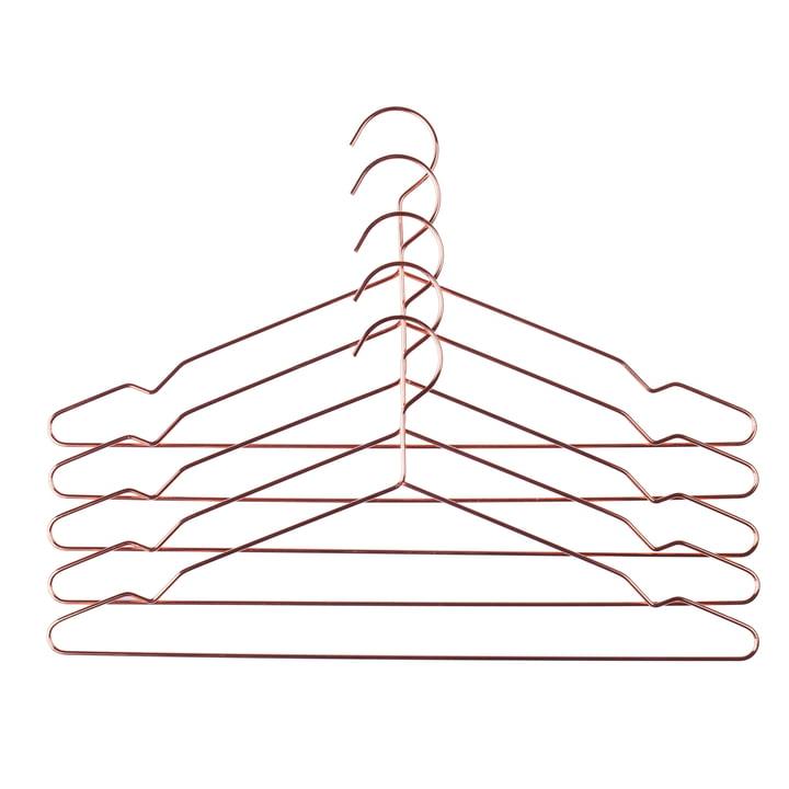 Hay – Hang bøjler i sæt af 5 stk., kobber